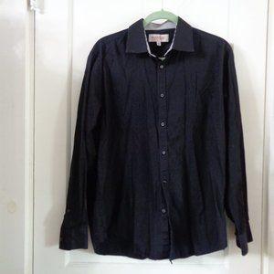 Emanuel long sleeve black button down shirt